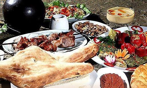 Mountains, sea and Georgian feast.