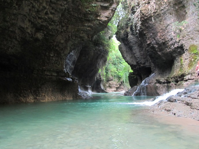 Martvili and Okace canyons, Kinche Waterfall and hot srprings (from Batumi)